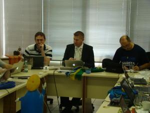 Ir. Jorge Gaio, Ir. Valter Zancanaro e Ir. José Wagner Rodrigues Cruz