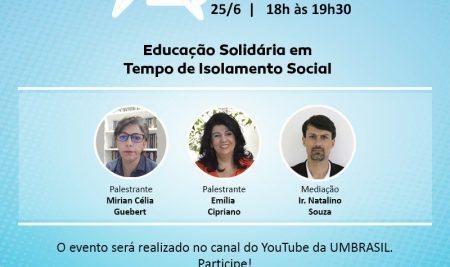 Live: Educação Solidária em Tempo de Isolamento Social