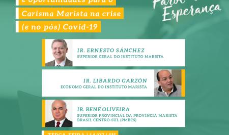Farol de Esperança terá fala do Superior Geral do Instituto Marista sobre missão e gestão da crise