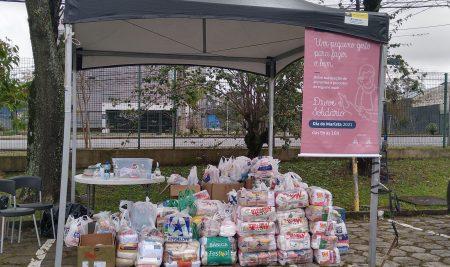 Dia do Marista – Drive Solidário arrecada mais de 6 toneladas de alimentos para o SOS Vila Torres